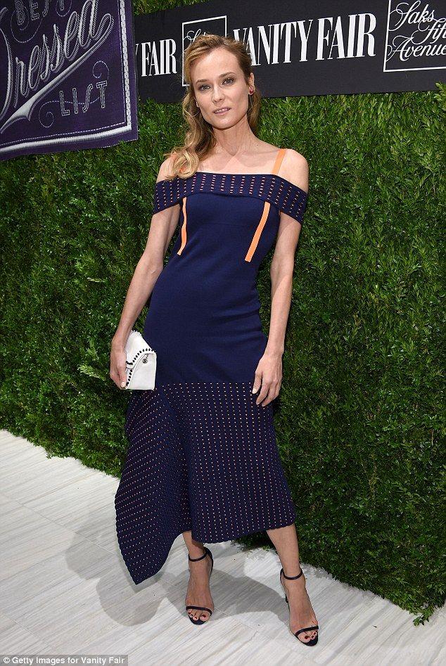 Diane Kruger In Jason Wu At The Vanity Fair 2016 International Best Dressed List Reception