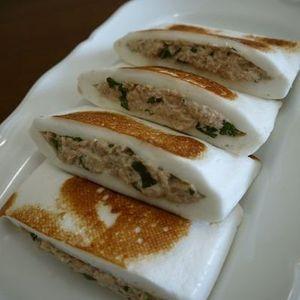 はんぺんのツナと大葉のはさみ焼き♪+by+bvividさん+|+レシピブログ+-+料理ブログのレシピ満載! 大葉がたっぷり入った、はんぺんのはさみ焼き!お弁当のおかずにも最適ですよぉ♪