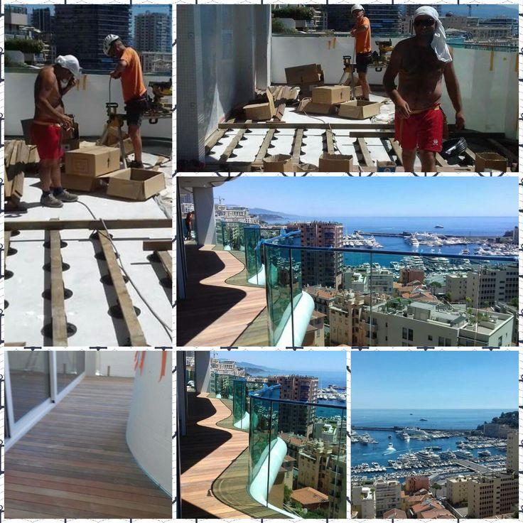 Ecco qui le nostre ultime realizzazioni: Palazzo di 15 piani con terrazzi e balconi ovunque... per fortuna #pavimentazioniinlegno #ipè #suMisura #dogheperesterno #terrazze #giardini #mururè #lavorisumisura