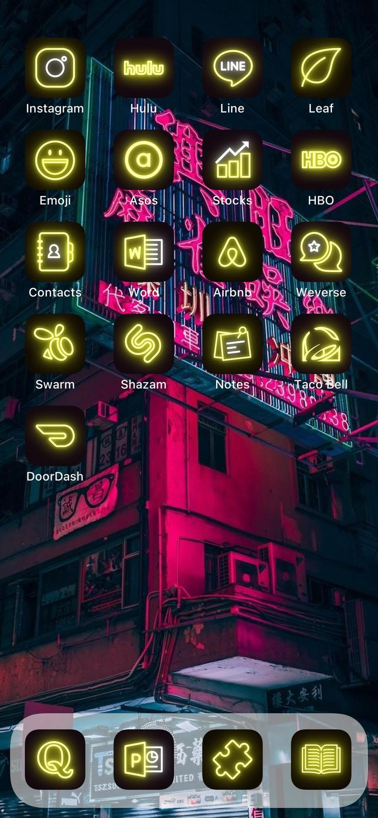 500 Ios 14 App Icon Pack Yellow Shining Neon Aesthetic For Iphone Home Screen Ios Shortcuts Ios Themes Bundle In 2021 App Icon App Covers Homescreen