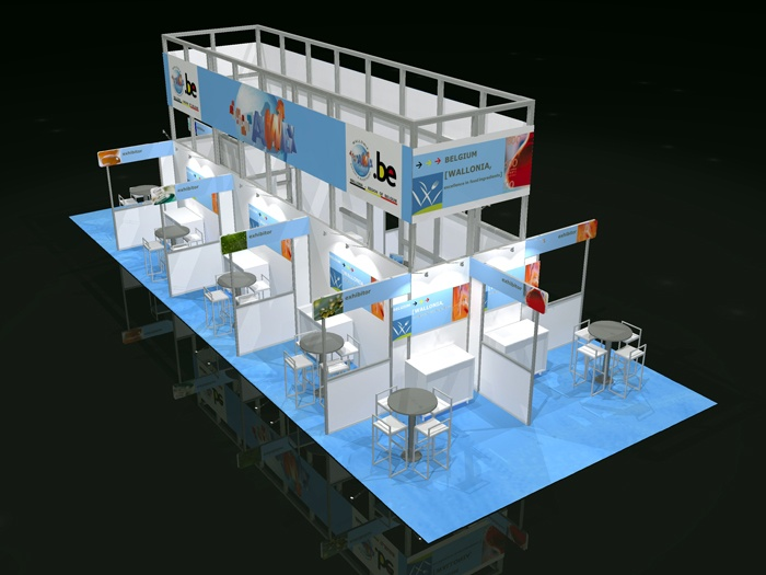 We do #Pavillions too! Check out AWEX_Belgium's 20'x50' #Custom #Booth Design for IFT in Chicago!