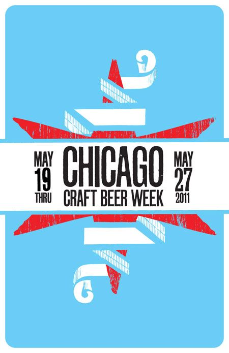 chicago craft beer week posters by anthony abbinanti.