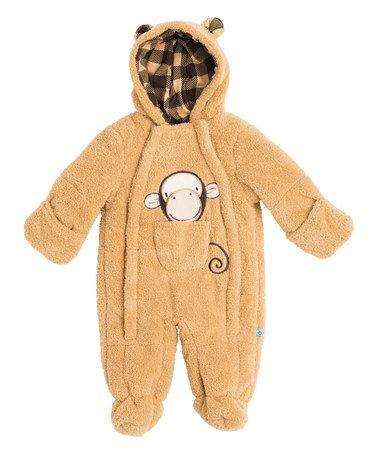 Look at this #zulilyfind! Khaki Monkey Bunting - Infant #zulilyfinds