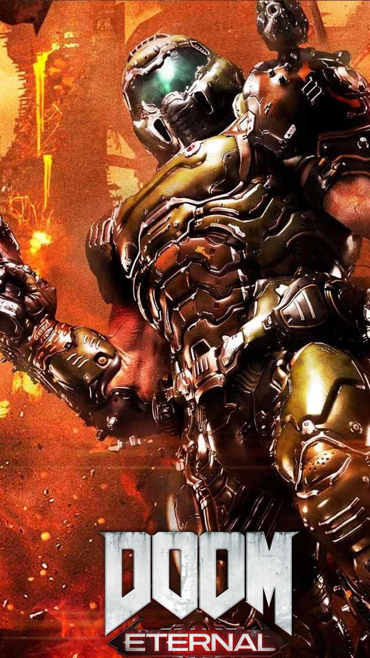 Doom Eternal Wallpaper Hd Phone Backgrounds Game Logo Art Monsters On Iphone Android Lock Screen Gaming Wallpapers Gaming Wallpapers Hd Doom
