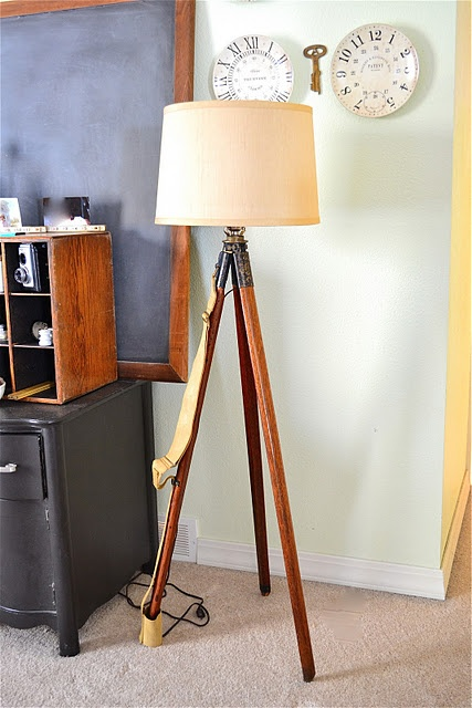 Can I do something like this with my old camera tripod? At least do it with a clip lamp.