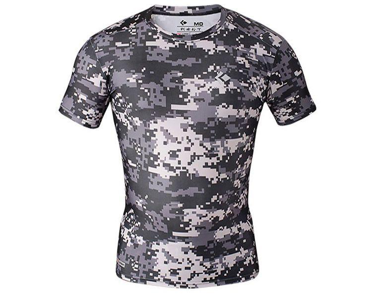 Uomini sport running fitness manica corta t shirt camouflage compressione collant da uomo di stile di estate quick dry camo abbigliamento da palestra in   da T-shirt su AliExpress.com | Gruppo Alibaba