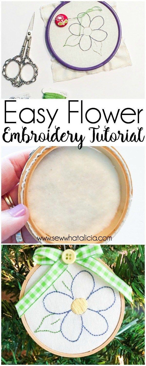 48 best hand embroidery patterns etsy images on pinterest hand easy embroidery flower tutorial dt1010fo