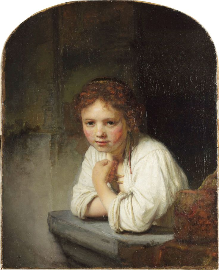 Rembrandt - Girl at a window, 1645