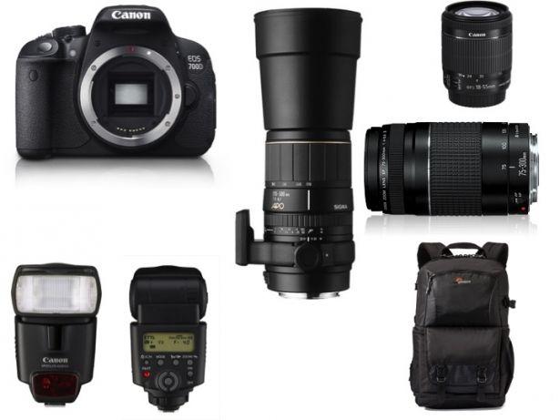 Canon EOS 700D, 3 lenses, Canon Speedlite, Lowepro Backpack, as new. Durbanville - image 1