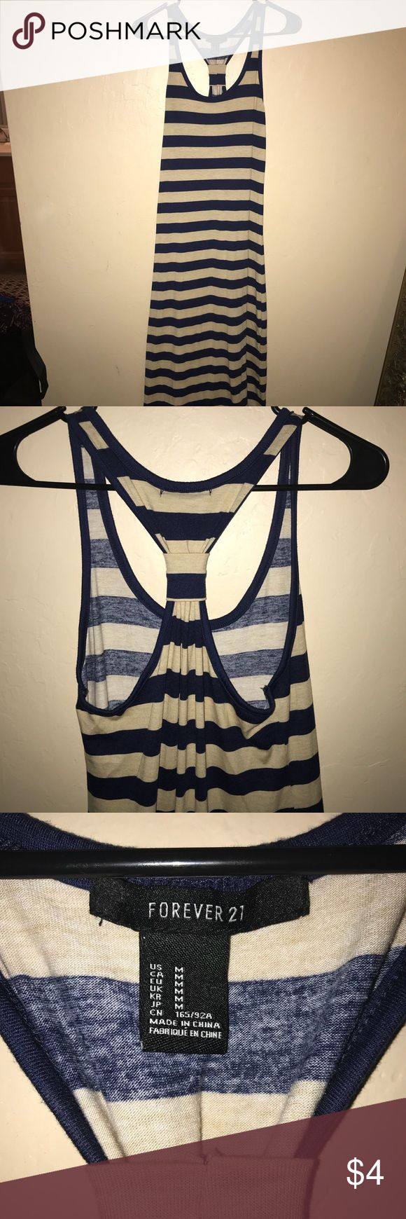 Medium stripped maxi dress forever 21 Super light and ready for summer, worn very lightly Forever 21 Dresses Maxi