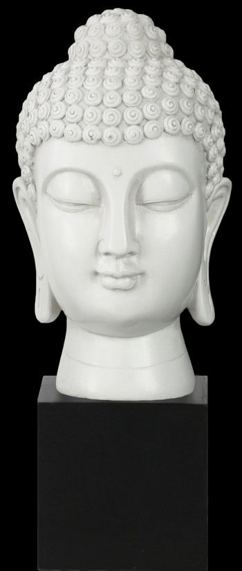 Features:  -Material: Resin.  -Comes with bun ushnisha on base.  Product Type: -Bust.  Style: -Asian Inspired.  Theme: -Religious.  Subject: -Buddha.  Primary Material: -Resin.  Age Group: -Adult.  Ou