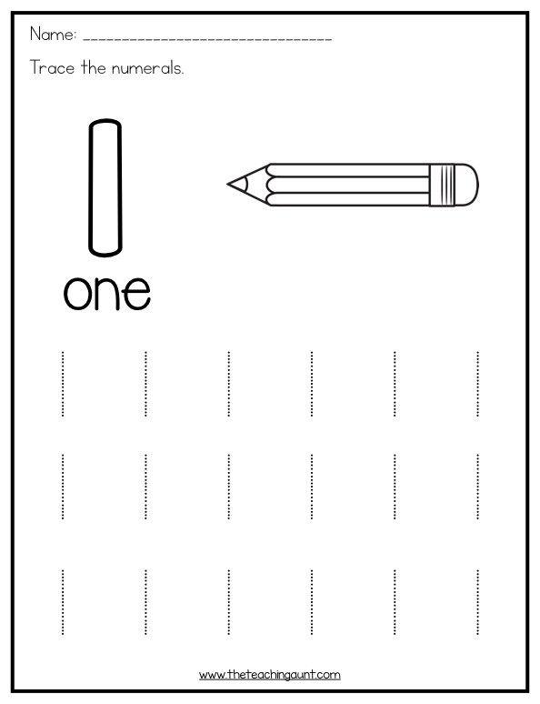 Trace And Color Numbers 1 10 The Teaching Aunt Tracing Worksheets Preschool Preschool Number Worksheets Numbers Preschool Printables
