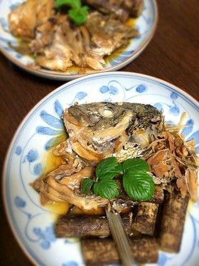 簡単☆圧力鍋で鯛のアラ煮付け