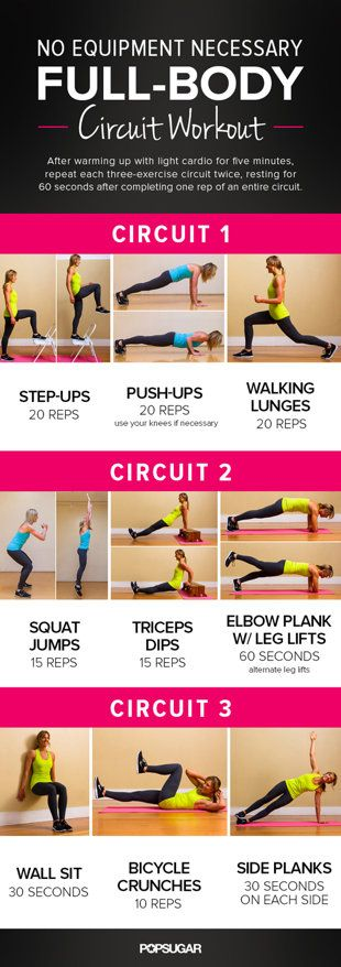 Printable Full-Body Circuit Workout — No Equipment Needed!   Healthy Living - Yahoo Shine