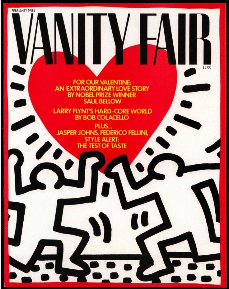 Uno de los artistas más reconocidos de la década de los ochenta, Keith Haring, creó varias portadas para Vanity Fair, entre ellas ésta publicada en febrero de 1984 #VanityFairMx