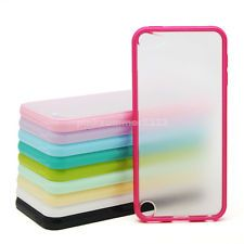 Clear Ice Tpu Hard Bumper Hybrid Back Case Cover For iPod Touch 5 Gen 5th 5G