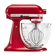 image of KitchenAid® 5-Quart Artisan® Design Series Stand Mixer with Glass Bowl