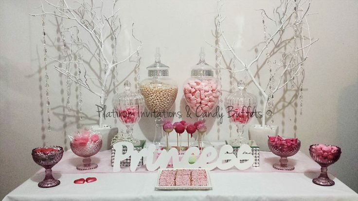 """Little Princess"" Candy/Cake Buffet All Styling By"" Platinum Invitations & Candy Buffets"