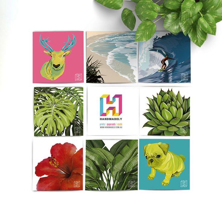 Handmadely: Art Print Flatlay