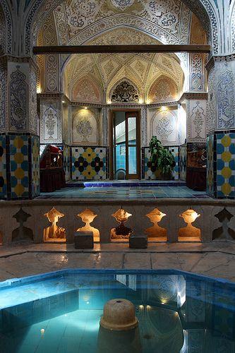 Interior, Sultan Mir Ahmed Hammam, Kashan,