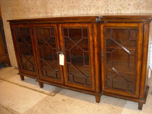 Sideboard Cabinet Credenza Buffet table Chippendale Mahogany Glass New Furniture Pinterest