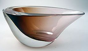 Art Glass Bowl, Vicke Lindstrand, Kosta, Sweden