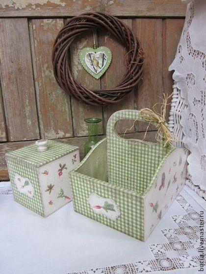 """Кухонный набор """"Весенне-овощной"""" - зелёный,кухонный набор,кухонная утварь"""