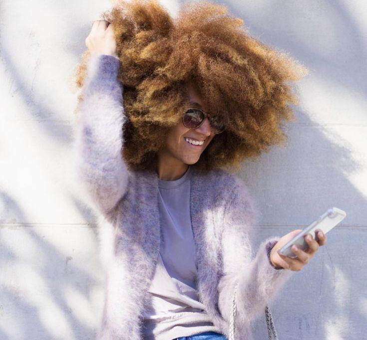Long & Blonde Afro
