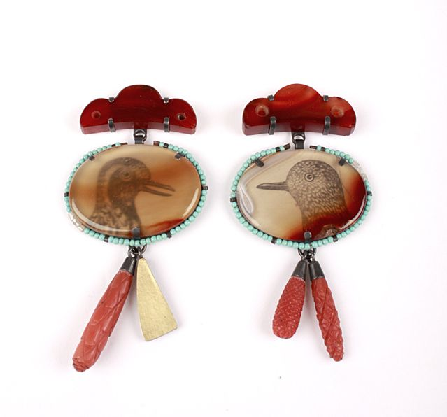 bird earrings, Zoe Arnold
