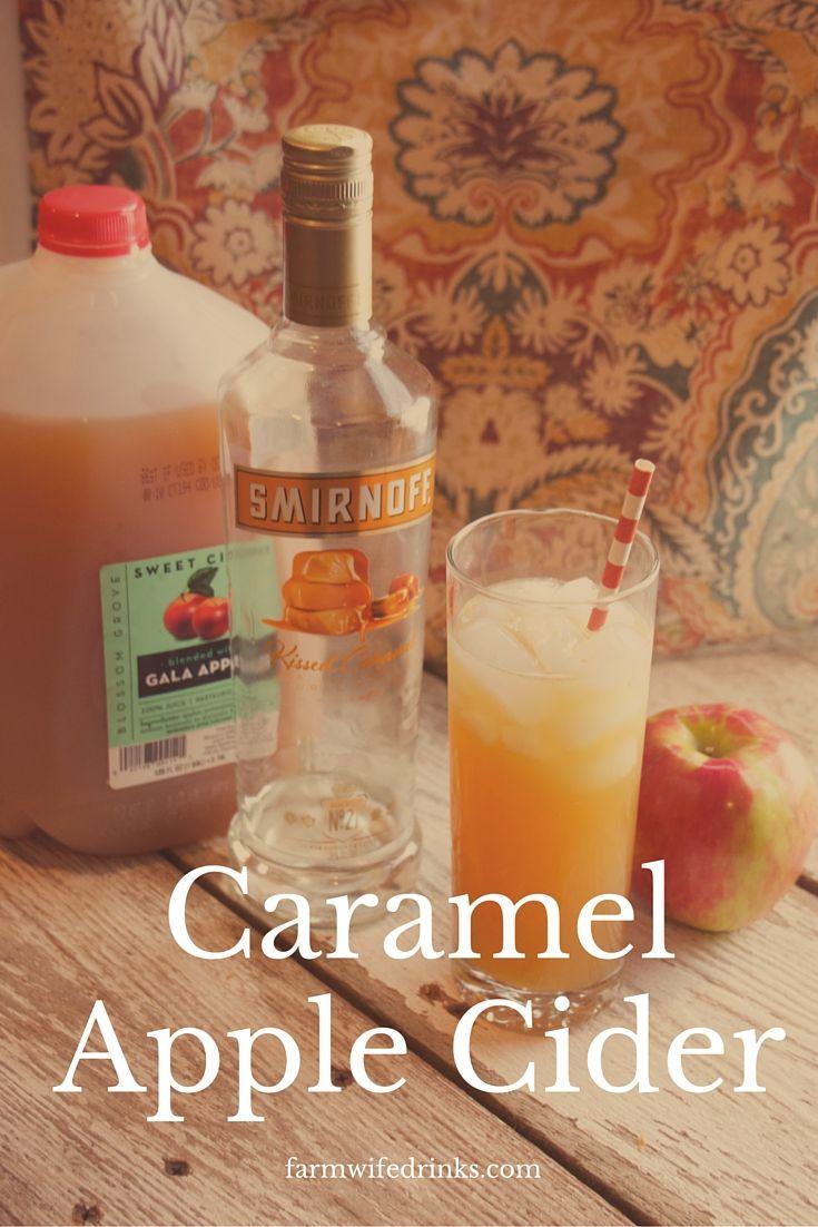 Apple Cider needs an adult drink version of it's fine self besides hard ciders. Caramel vodka plus apple cider brings you the best caramel apple cider cocktail money can buy.