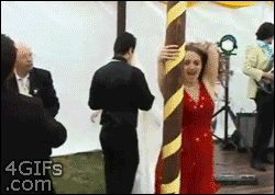 Try to avoid any impromptu props | 21 Of The Worst Dance Fails Ever