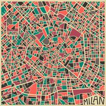 Illustration - flat colour / Modern Abstract City Maps — Designspiration