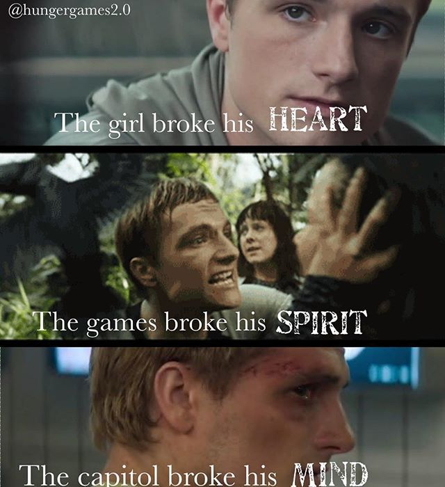 The girl broke his heart ❤️ the games broke his spririt the capitol broke his mind comment what you think of my edit