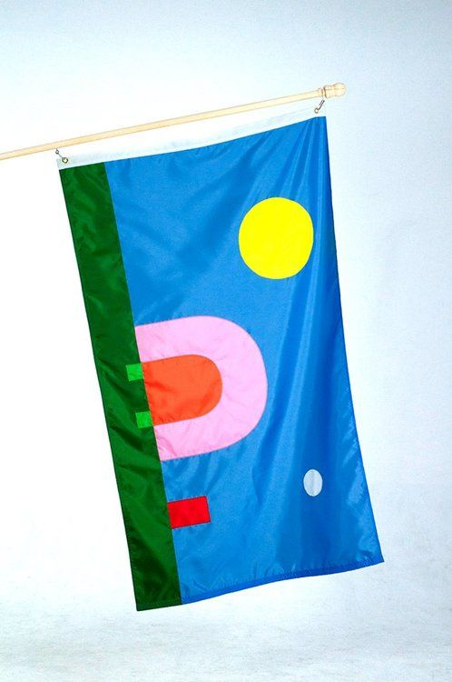 Erik Brandt, 2013. Flag for Powderhorn, MN. A new production of the original flag. Thanks to Lauren Thorson and Jasio Stefanski for this doc...