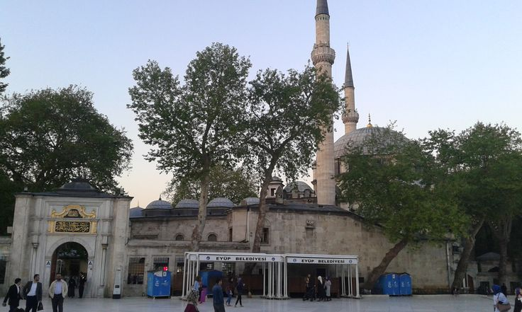 Eyüp is on of the Islam's secred sites. Eyüp-el- Ensari, the flag bearer of Mohammed, died here in the 7th century during the Aran siege. His grave discovered during the conquest of Istanbul, was enclosed by a large mausoleum, and the first mosque in Istanbul was built next to it. http://istanbulturkeybook.com/eyup-sultan-mosque-istanbul-turkey/