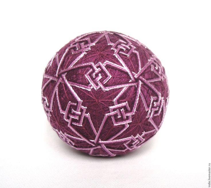 """Купить Темари """"Кельтский-3"""" - фиолетовый, темари, шар, шарик, подарок девушке, подарок женщине"""