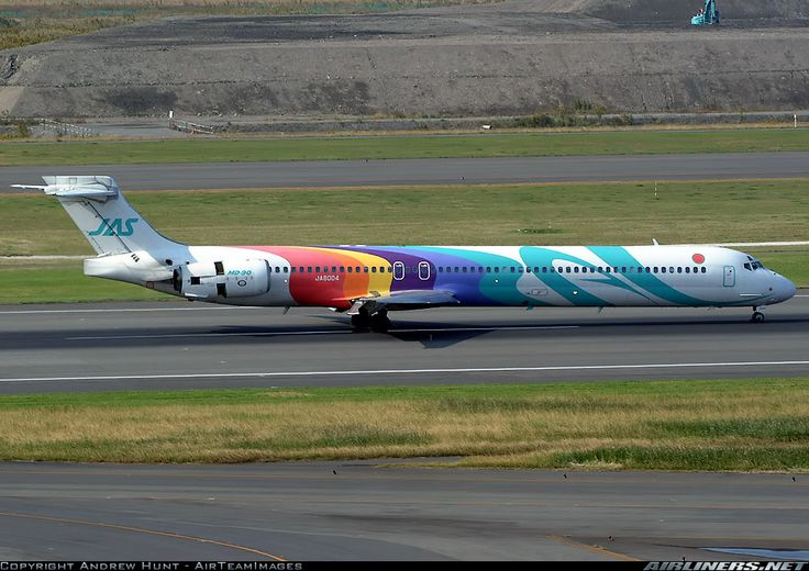 JAS Fly the Rainbow McDonnell Douglas MD-90-30