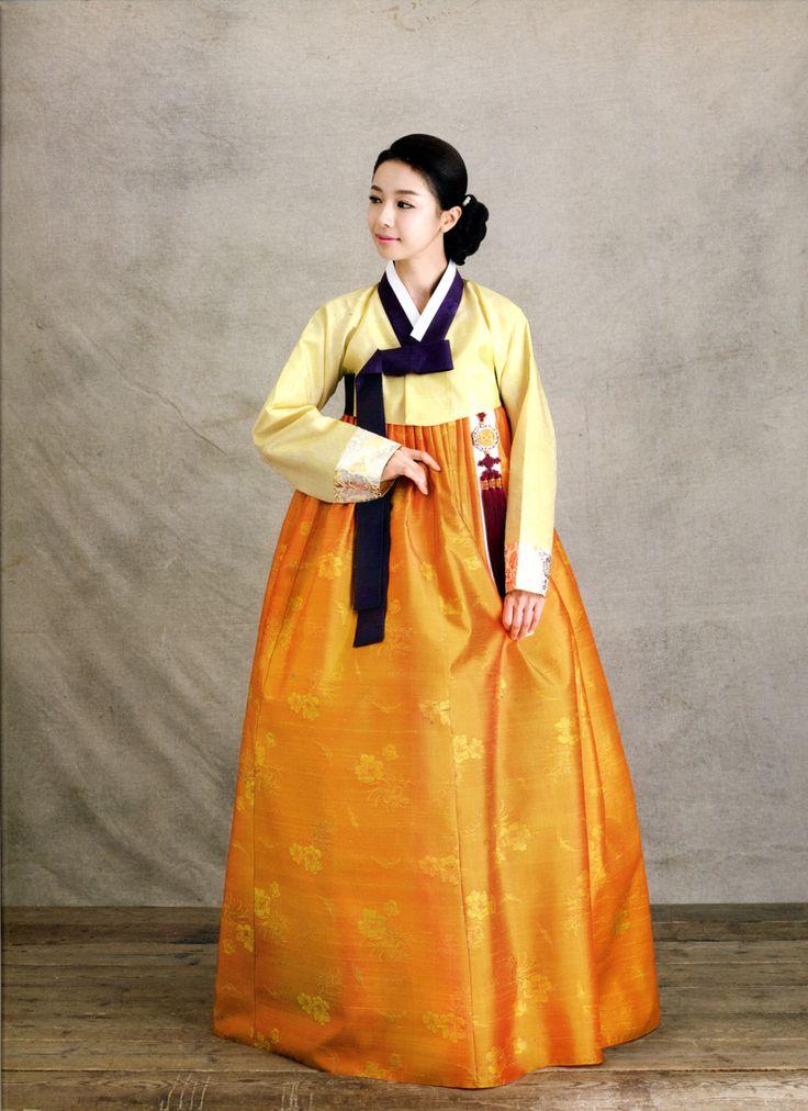 traditional Korean hanbok with norigae(hanging accessories). chima(skirt), jeogori (jacket)