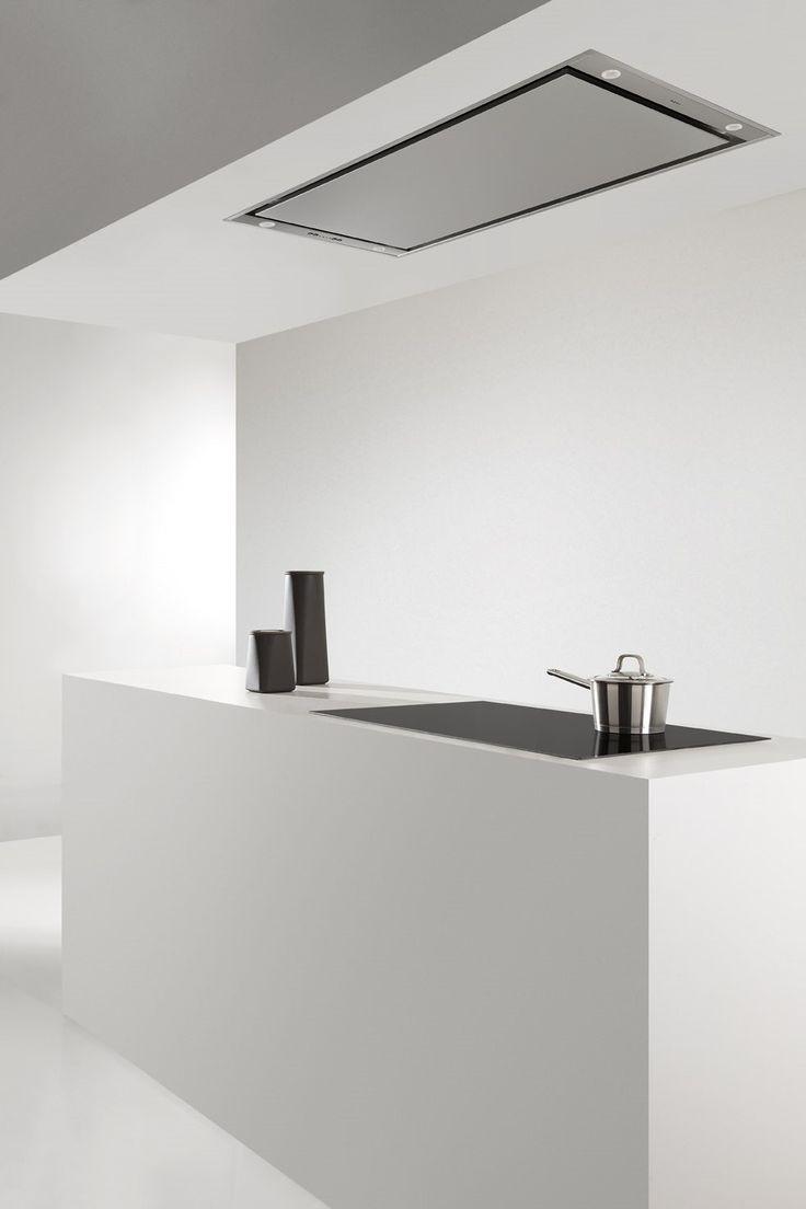 Pure line novy una campana de techo sin barreras cocinas - Campanas extractoras economicas ...