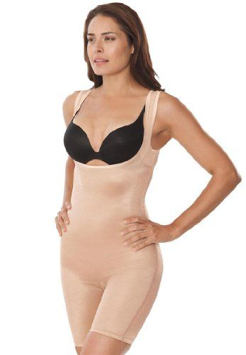 Comfort Choice Women's Plus Size All-In-One Shaper Girdle With Long Legs