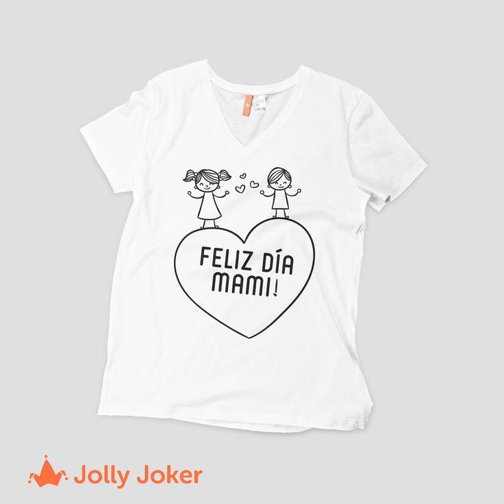 Diseñale a tu mamá la mejor camiseta personalizada, ordena y mándala a estampar! Se sentirá Genial en su día :D