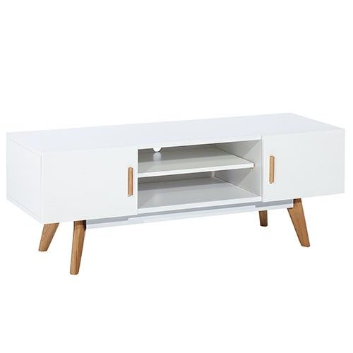 Vasby TV Unit - 2 Doors - White - Scandinavian Furniture 17% OFF | $289.00 - Milan Direct