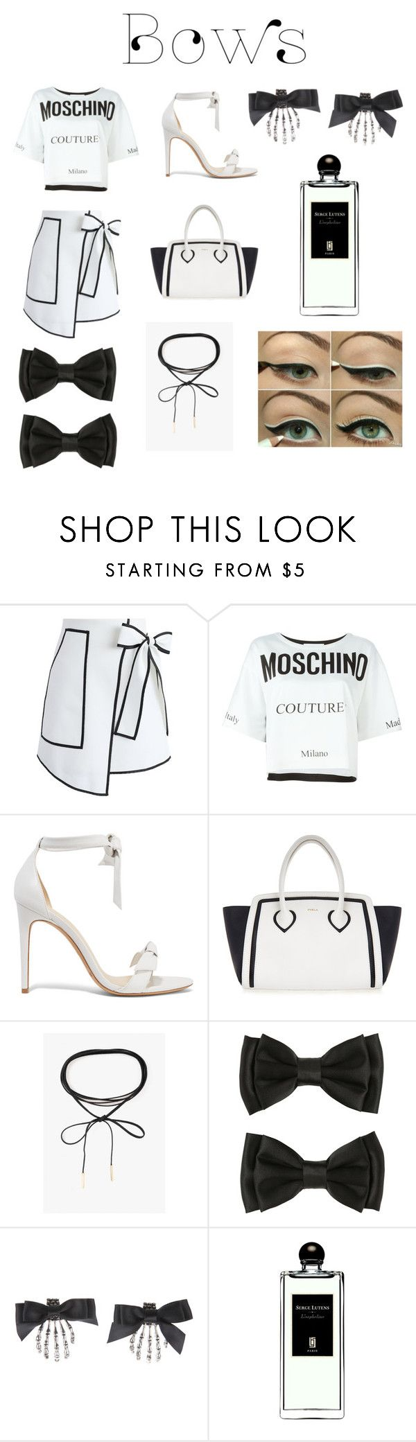 """🎀"" by heartomagcon ❤ liked on Polyvore featuring Chicwish, Moschino, Alexandre Birman, Furla, Azalea and Serge Lutens"