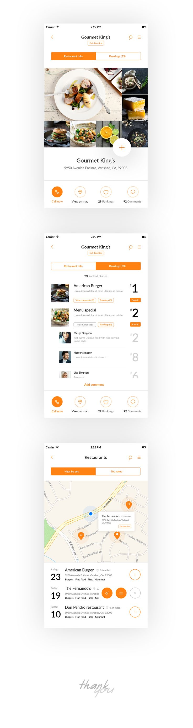 IOS Application for food service search tool.