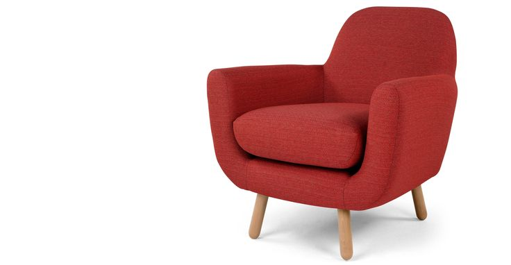 Jonah, fauteuil, rouge ketchup