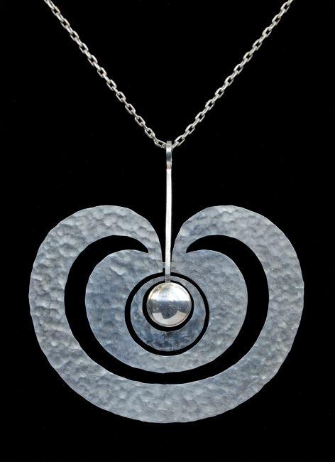 Tapio Wirkkala, silver 'Omena' pendant, Finland, 1975