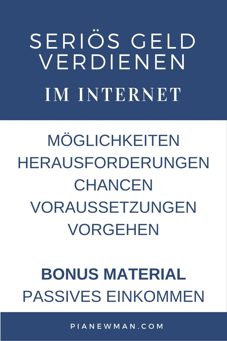 Seriös Geld verdienen im Internet: Die ganze Reihe + Bonus Material (scheduled via http://www.tailwindapp.com?utm_source=pinterest&utm_medium=twpin&utm_content=post100445347&utm_campaign=scheduler_attribution)