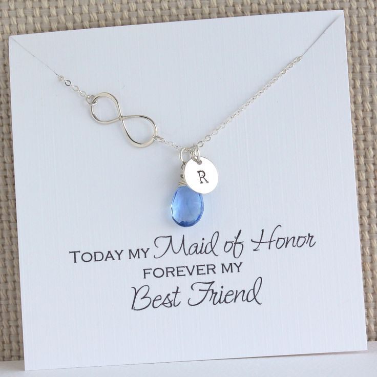 Infinity Silver Necklace With Birthstone And Initial Etsy Maid Of Honour Gifts Maid Of Honor Gifts For Wedding Party