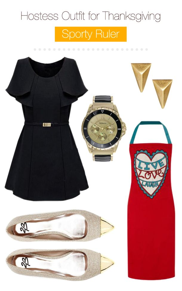 Hostess-outfit-for-thanksgiving-sporty-ruler shaped women... what to wear on thanksgiving if you are hosting a dinner... quick outfits with great aprons along!