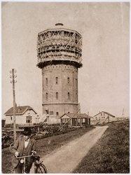 Watertoren  Westzaan, long ago, under construction